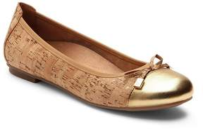 Vionic Walk.Move.Live Minna Cork Gold Cap-Toe Flats
