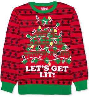 Hybrid Men's Let's Get Lit Holiday Sweater