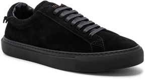 Givenchy Tonal Suede Urban Tie Knot Sneakers in Black.