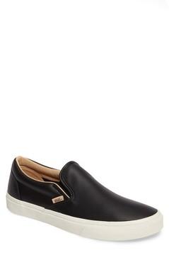 Vans Men's Lux Leather Classic Slip-On Sneaker