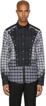 Dolce & Gabbana Grey and White Check Western Shirt