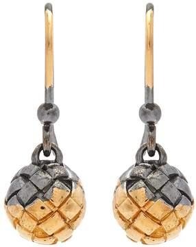 Bottega Veneta Intrecciato-engraved drop earrings