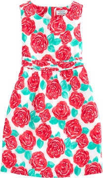 Vineyard Vines Girls Run For Roses Fit & Flare Dress
