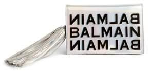 Balmain Mirrored Logo Leather Crossbody