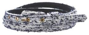 Oscar de la Renta Tweed Thin Belt
