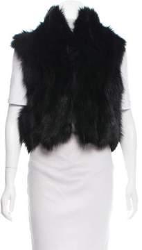 Barneys New York Barney's New York Collared Fur Vest w/ Tags