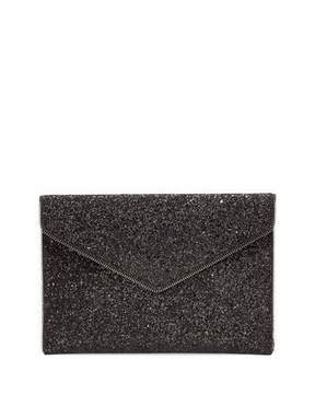 Rebecca Minkoff Leo Glitter Clutch Bag, Black - BLACK MULTI - STYLE