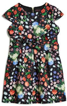 GUESS Floral Ruffle Dress (2-7)