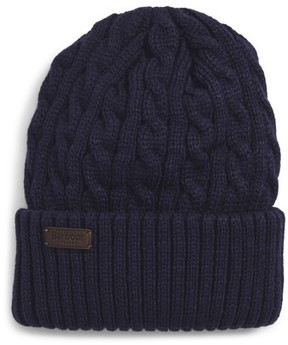Barbour Balfron Cable Knit Beanie - Blue