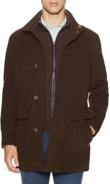 Cole Haan Men's Zip Front Wool Top Coat