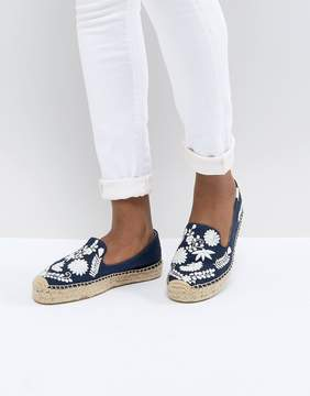 Soludos Midnight Blue Ibiza Embroidered Espadrilles