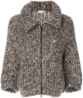 Brunello Cucinelli oversized knit jacket