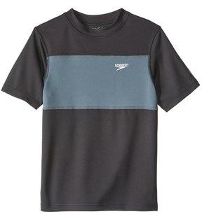 Speedo Boys' Blocked Short Sleeve Swim Tee (620) - 8154775