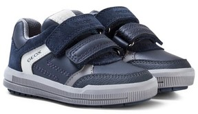 Geox Navy Suede Junior Arzach Velcro Trainers