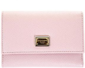 Dolce & Gabbana Dauphine Pink Leather Wallet - PINK - STYLE