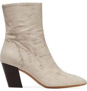 IRO Metallic Sliced Leather Ankle Boots