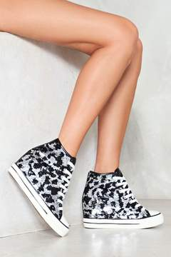 Nasty Gal Flash into View Sequin Sneaker