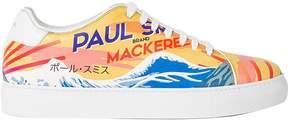 Paul Smith Leather mackerel Print basso Trainers