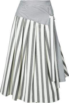 Christian Siriano flared stripe skirt