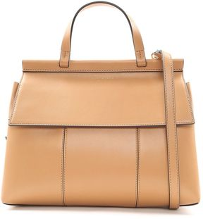 Tory Burch Block-t Leather Satchel Bag - CUOIO - STYLE