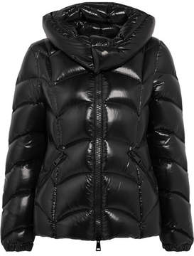 Moncler Akebia Quilted Patent-shell Down Jacket - Black