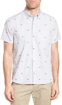 Michael Bastian Striped Trim Fit Sport Shirt