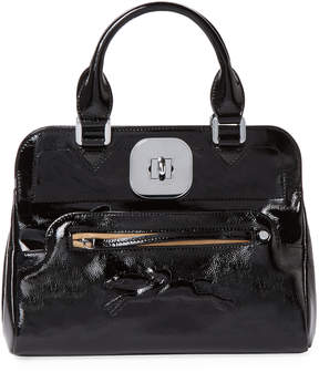 Longchamp Women's Gatsby Small Patent Leather Convertible Tote - BLACK - STYLE