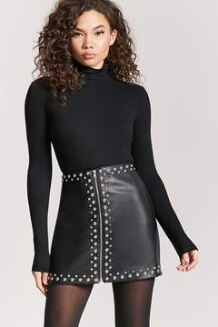 Forever 21 Studded Faux Leather Mini Skirt