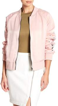 Cupcakes And Cashmere Donya Reversible Bomber Jacket