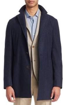 Loro Piana Notch Cashmere Short Coat