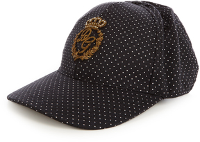 DOLCE & GABBANA Embroidered polka-dot print cap