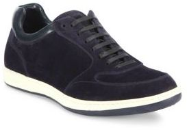 Giorgio Armani Suede & Leather Lace-Up Sneakers
