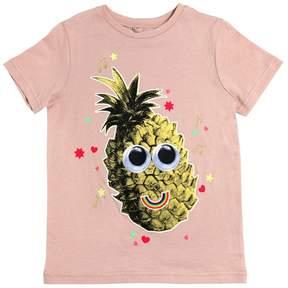 Stella McCartney Pineapple Printed Cotton Jersey T-Shirt