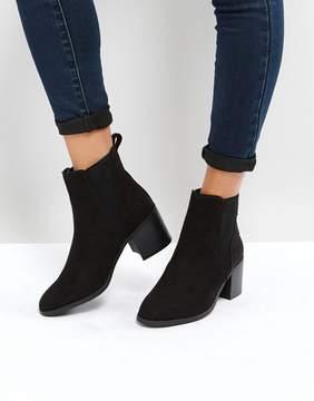 New Look Ribbed Side Block Heel Chelsea Boot
