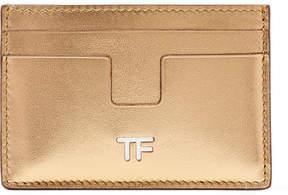 Tom Ford Metallic Leather Cardholder - Gold