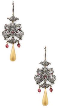 Amrapali Women's Diamond, Emerald and Tourmaline Drop Earrings