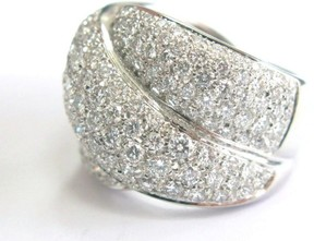 Damiani Gomitolo 18K White Gold Swirl Pave Diamond Ring