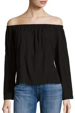 Bella Dahl Long Sleeve Off-the-Shoulder Top