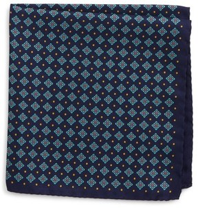 Eton Men's Medallion Silk Pocket Square