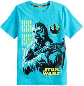 Star Wars A Collection For Kohls Boys 4-7x a Collection for Kohl's Chewie Tee