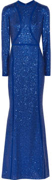 Elie Saab Sequined Silk-blend Tulle Gown - Blue
