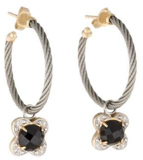 Charriol 18K Diamond & Onyx Hoop Earrings