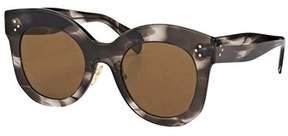 Celine Chris Cl 41443 0gq Qs Havana Grey Square Sunglasses.