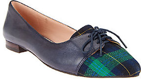 Sole Society Oxford Leather & Haircalf Flats - Lillie