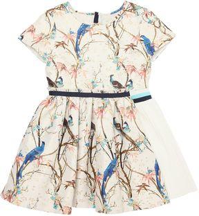 No Added Sugar Birds Printed Dress W/ Lurex