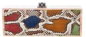 Edie Parker Multicolor Python Flavia Clutch