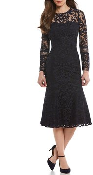 Antonio Melani Baldwin Embroidered Mesh Dress
