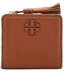 Tory Burch Taylor Mini Tassel-Zip Wallet - SADDLE - STYLE