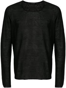 Roberto Collina semi-sheer sweatshirt