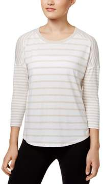 Calvin Klein Womens Striped Casual Pullover Top